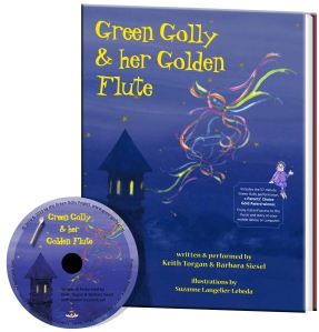 Green Golly book cover with CD_300 dpi