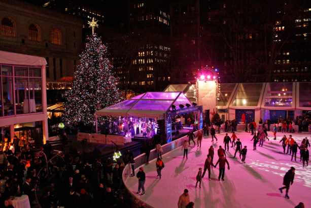 Image result for bryant park ice skating